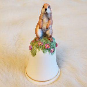 Franklin Mint Baby Prairie Dog Porcelain Bell 1983